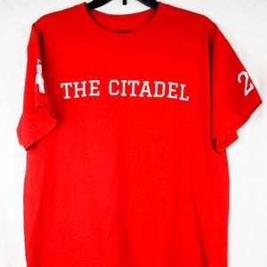 The Citadel Red/White SS Tee HONOR DUTY RESPECT